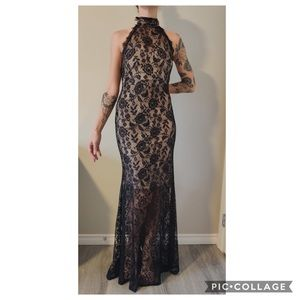 Dresses & Skirts - Black Lace overlay dress / gown
